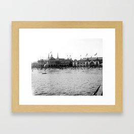 Santa Cruz Beach Boardwalk 1911 Framed Art Print