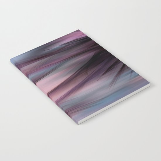 Soft Hazy Mauve Abstract Notebook