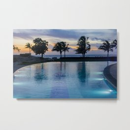 Poolside at Dawn Metal Print