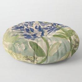 Jeanette's Texas Bluebonnets Floor Pillow