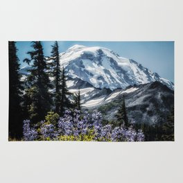 Scenic Art, Mt. Rainier, Mt. Rainier National Park, Spray Park Rug