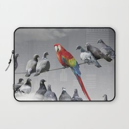 Parrot among the pigeons Laptop Sleeve