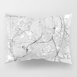 San Francisco White Map Pillow Sham
