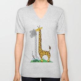Long Long Giraffe Bong Unisex V-Neck