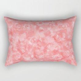 Strawberry Blush Orgnaic Abstract Rectangular Pillow