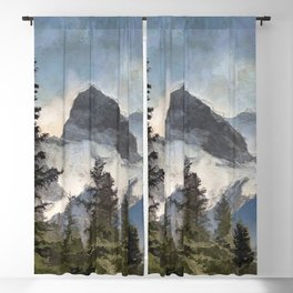 The Three Sisters - Canadian Rocky Mountains Blackout Curtain