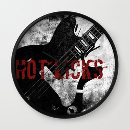Rock n' Roll Guitar Wall Clock