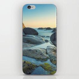 Ocean between the rocks by the beach iPhone Skin
