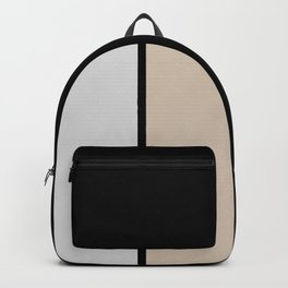 Two colors and black. Gray and Beige Backpack