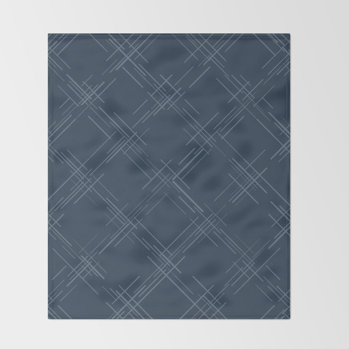 Cross Hatch in Blue Throw Blanket