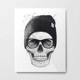 Black Skull in a hat Metal Print
