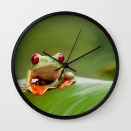 Posion Dart Frog Painting Wall Clock