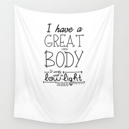 GREAT CAMERA BODY Wall Tapestry