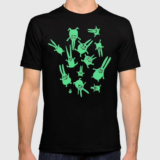 bunnies in weightlessness T-shirt