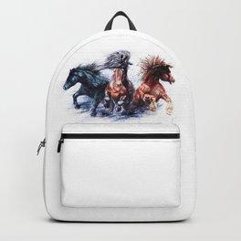 Horses watercolor Backpack
