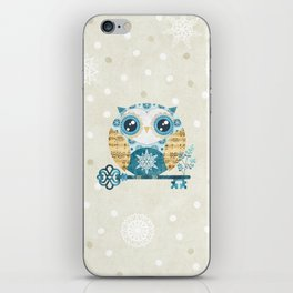 Winter Wonderland Owl iPhone Skin