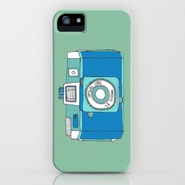 Holga Camera in Blue iPhone Case