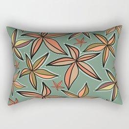 Aqua Retro Starfish Rectangular Pillow