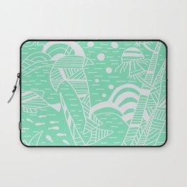 Carnival Glass Sea Life Stripes Laptop Sleeve
