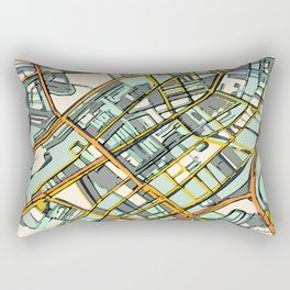 Abstract Map- Boston South End Rectangular Pillow