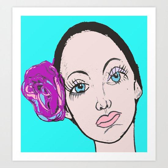Ballet Dancer in blue (series) Art Print