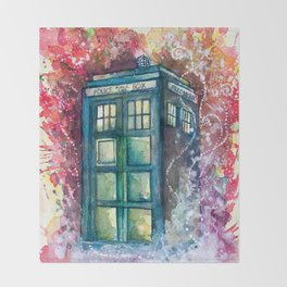 Doctor Who Tardis Throw Blanket