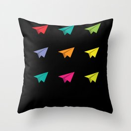 Paperplane Origami Hobby Throw Pillow