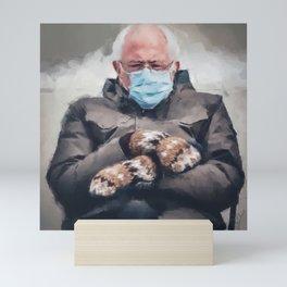 Bernie Sanders and his Mittens Mini Art Print