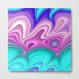 Abstract loops 4A Metal Print