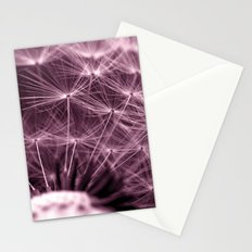 purple dandelion II Stationery Cards