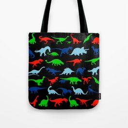 silhouettes of dinosaur pattern Tote Bag