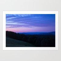 The Yarra Valleys Blue Mountains Art Print