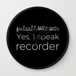 Yes, I speak recorder Wall Clock