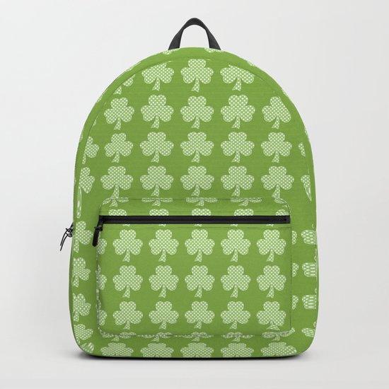Greenery Shamrock Clover Polka dots St. Patrick's Day Backpack