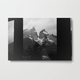 Cuernos del Paine Window Metal Print