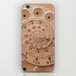 Vintage  Retro Rotary Dial Spiral Droste iPhone Skin