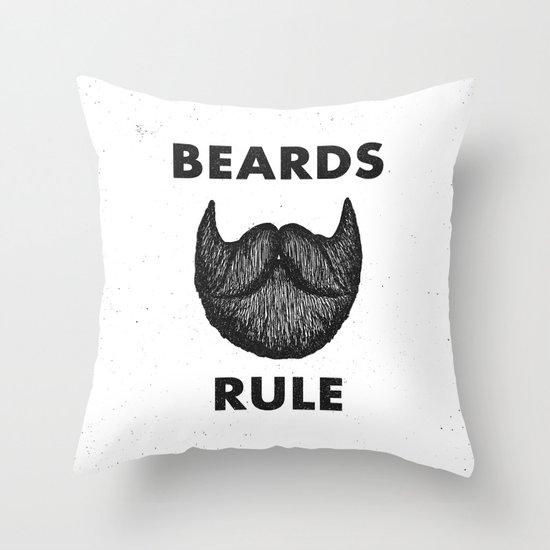 Beards Rule Throw Pillow