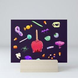 Halloween Candy Pattern Mini Art Print
