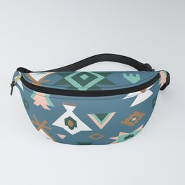 Southwest Kilim in Teal Fanny Pack