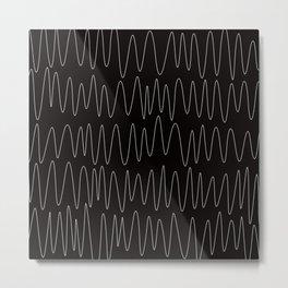 Handpainted Chevron - ZigZag pattern - stripes Metal Print