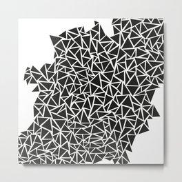 Triangle Maze Metal Print