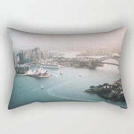 Sydney Opera House Harbour Bridge | Australia Aerial Travel Photography Rectangular Pillow