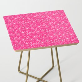 08 Small Flowers on Pink Side Table
