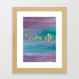 Namaste, Ocean Mermaid 1 Framed Art Print