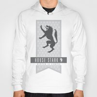 house stark Hoodies featuring House Stark Sigil V2 by P3RF3KT
