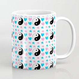 Tao, hearts and stars-sky,hope,spangled,love,romantic,tao,taoism,yin,yang,romantism,pointed Coffee Mug