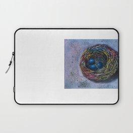 blue eggs in nest Laptop Sleeve