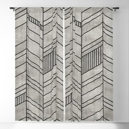 Concrete Chevron Pattern Blackout Curtain