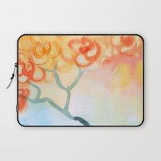 Cherry flowers in the blue jug Laptop Sleeve