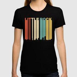 Vintage 1970's Style Little Rock Arkansas Skyline T-shirt